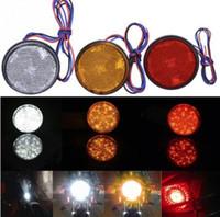 freios refletores led venda por atacado-12 V Rodada Motocicleta Moto Traseira 24 pcs luz conduzida Motocicleta Refletor Cauda Brake Turn Signal Lâmpada Ligh Signal KKA5959
