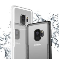 Wholesale galaxy goophone - HD Transparent 0.55mm 9H 3D Tempered Glass Back Cover Case with Flexibility Soft TPU Shock Absorption Bumper for Galaxy S9+ S9 Plus Goophone