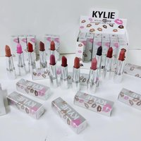 Wholesale Red Hot Holidays - Kylie jenner matte Lipsticks holiday silver series 12colors lipstick Red Hot Lovesick Valentine Makeup kylie cosmetics DHL free shipping