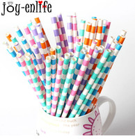Wholesale cheap baby supplies - cheap 25pcs Diagonal stripes paper straw baby Kids Birthday Party Wedding Decoration Paper Drinking Straws party supplies
