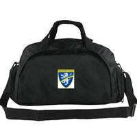Wholesale team soccer bags for sale - Frosinone Calcio duffel bag Canaries team tote Soccer club backpack Football luggage Sport shoulder duffle Outdoor sling pack