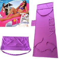 Wholesale Solid Beach Towels - Beach Chair Towel Cover Deck chair Blankets Portable Incidental strap Microfiber Beach Towels Double layer fabric Blanket 75*210CM z136