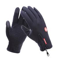 ветрозащитные перчатки оптовых-Открытый спорт ветер пробка водонепроницаемые перчатки черный езда перчатки мотоцикл перчатки сенсорный экран черный полный палец мужчины CM542