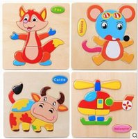 Wholesale Woodiness Animal Jigsaw Baby Child Child Building Block System Alpinia Oxyphylla Early Childhood Stress Toys