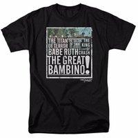 ingrosso migliori camicie maschili-The Sandlot Movie The Great Bambino con licenza T Shirt per adulti girocollo Best Selling maschio camicia di cotone naturale