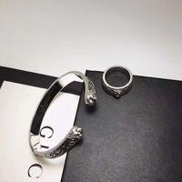 ingrosso bangles s925-Lusso classico S925 di design di qualità pura argento aperto amanti del punk braccialetto con parole stile Donne e gioielli uomo braccialetto regalo