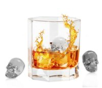 Wholesale mold stones - 3d Skull Silicone Ice Cube Tray Mold For Whiskey Cocktails Bpa -Free Skull Whisky Ice Stones Ice Mold