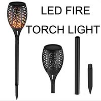 Wholesale pathway lighting for sale - Solar Garden Yard Lawn Pathway Halloween LED Flickering Flame Solar LED Torch Lights outdoor IP65 waterproof lamp
