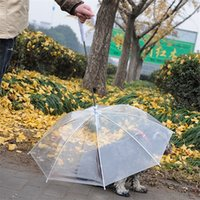 Wholesale tent umbrella - Portable Transparent PE Pet Umbrella Universal Simple Rain Proof Raincoat Safe Puppy Umbrellas Hot Sale 9 2jn Y