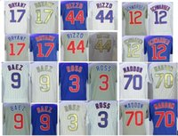 Wholesale Ross Gold - Men Chicago 17 Bryant 44 Rizzo 9 Javier Baez 12 Kyle Schwarber 3 David Ross 70 Joe Maddon ZOBRIST 27 RUSSELL 11 Yu DARVISH jerseys