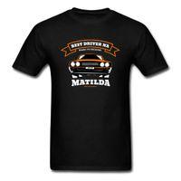 camisas de algodón ajustadas para hombre de corea al por mayor-El mejor conductor Matilda Slim Fit camisetas cuello redondo 100% algodón Tops hombres camisetas hombres coreanos moda ropa de calidad superior