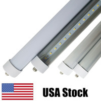 Wholesale end shop online - 8FT T8 FA8 K LED Tube W Replacement Fluorescent Lamp Shop Light Bulb Single Pin FA8 Base Dual Ended Power Cold White Clear Cover