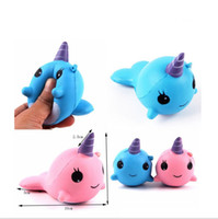 Wholesale Big Whales - 8cm unicorn Squishy Toys for Kids slow rising squishy Finger Doll jumbo squishy unicorn whales Toy Stretchy Animal Healing Stress Paste