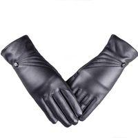 новые розовые сенсорные телефоны оптовых-Luxurious Women Girl Leather Winter Super Warm Gloves Cashmere Winter Gloves 8.15