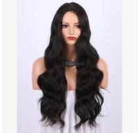 волосы черные большие волны оптовых-Европейские и американские парики способа, высокотемпературный шелк, большая волна, чернота, средств длинние, длинние волосы, фабрика трансграничной горячей продавая сразу