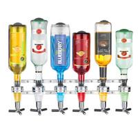 Wholesale branded drink bottles - Brand Wall Mounted 6 -Station Liquor Dispenser Bar Butler Wine Dispenser Alcohol Bottle Dispenser Drinking Pourer Bar Accessories