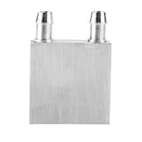 disipador de calor cpu cooler al por mayor-40 * 40mm Bloque de enfriamiento de agua de aluminio primario para sistema de disipador de calor de agua líquida enfriador Uso de plata para PC Portátil CPU Envío Gratis