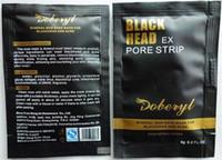 siyah başlı çamur toptan satış-Yeni Varış DOBERYL Siyah Kafa Remover Yüz Maskesi Bakımı Yüz Siyah Nokta Burun Tedavileri Derin Temizlik Mineral Çamur EX Gözenek Şeritleri Temizleyici