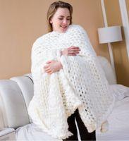 ingrosso sciarpe grosse-Aeroplano Nuovo filato di lana merino super grosso di alta qualità Giant roving filatura lana per braccio maglieria coperta maglioni sciarpe