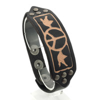 Wholesale harmony charms resale online - High quality Genuine Leather bracelet Harmony for men and women can adjust the charm of jewelry SC1006