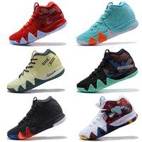 sıcak erkekler için rahat ayakkabılar toptan satış-Kyrie Ucuz Irving 4 Rahat Ayakkabı 2018 Sıcak Satış Mens Tasarımcı Renkli Yüksek Kaliteli Takım Rahat Ayakkabı
