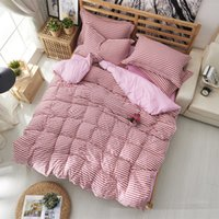 Wholesale bedspread for sale - Group buy Comforter bedding set strip Duvet Cover Sets clothing bed cover double bed sheet set quilt king bedspread Pillowcases