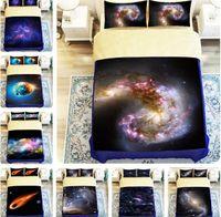 cama de impressão de galaxy 3 venda por atacado-O céu 3D estrelado imprimiu a tampa temático da edredão da galáxia 3D do espaço do universo do universo ajustado do fundamento do fundamento