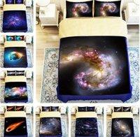 ingrosso biancheria da letto a tema-Set copriletto 3D Starry Sky Stampato Copripiumino 3D Space Copriletto