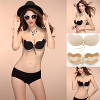 513a3cb63d Women Nubra 4 Size Sexy Silicone Invisible Bra Push Up Breast Self Adhesive  Front Closure Strapless Backless Super Quality CPA798