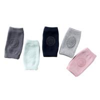 rodillera codo niño al por mayor-calcetines de rizo de algodón del bebé del verano ponen en el codo niño arrastrándose rodilleras hijos pequeños rodilleras bebé