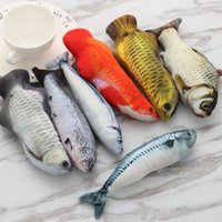 Wholesale leather dog toys for sale - Group buy Brand New Lovely Artificial Fish Plush Pet Cat Puppy Dog Toys Sleeping Cushion Fun Toy Cat Mint Catnip Toys Gadget