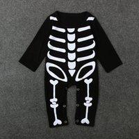 Set di scaldamuscoli per Gonna con teschio di scheletro per Bambini piccoli Completi per Halloween per Bambine