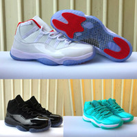 Wholesale Bright Christmas - 2018 New XI 11 White Red Bright Black Gamma Ice Blue Sports Basketball Shoes for Men Women High 11s Trainers Athletic Designer Sneakers 5-13