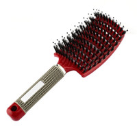 Wholesale salon hair styling combs for sale - Group buy Pro Hair Scalp Massage Comb Hairbrush Bristle Nylon Women Wet Curly Detangle Hair Brush for Salon Hairdressing Styling Tools