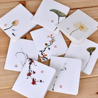 Wholesale free chinese new year cards resale online - Creative simple classical Chinese Style folding card Christmas New Year blessing universal greeting card hot sale new