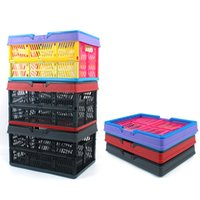 Wholesale pack baskets resale online - Outdoor Camping Folding Storage Basket Collapsible Trunk Organizer Container Plastic Water Proof Packing Picnic Basket High Quality gt Z