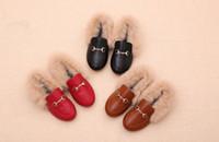 sapatos de coelho venda por atacado-2019 sapatos de grife crianças sapatos sapatos de luxo outono Real coelho pele Crianças presente 169