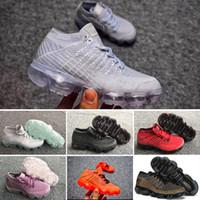 ingrosso scarpe da ginnastica alte per le ragazze-Nike air max voparmax 2018 Scarpe da corsa per bambini Sneakers triple nere per bambini Rainbow Scarpe sportive per bambini ragazze e ragazzi Scarpe da ginnastica per tennis di alta qualità