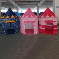 эко дом мультфильм оптовых-Оптово-Игровой домик в помещении и на открытом воздухе Легко складной Ocean Ball Pool Pit Game Tent Play Hut Girls Сад Playhouse Дети Детская игрушка палатка