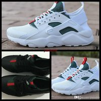 Wholesale womens training - huarache shoes mens womens running huraches shoes 2018 gym trainers black green training huaraches ultra Sneakers Chaussure Hurache Custom