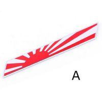 honda bayrakları toptan satış-Japon Bayrağı Amblem Rozet Araba Styling Motosiklet Sticker Çıkartma KAWASAKI SUZUKI YAMAHA Honda Toyota Nissan Mazda Mitsubishi için