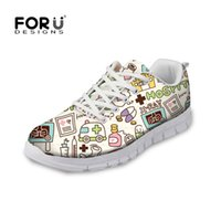 Home Forudesigns Women Sneakers Fashion Brand Design Womans Casual Mesh Flats Shoes Cute Cartoon Alpaca Print Female Sneakers 2019