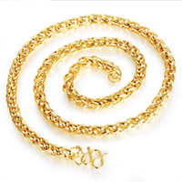 Wholesale United Angels - Jewelry mixed batch 18K gold plated Europe and the United States selling hot domineering coarse mad men's necklace anti allergy
