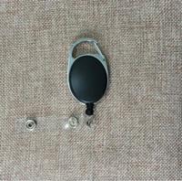 namensring-tags großhandel-Einziehbare Pull Key Ring Kette Reel ID Lanyard Name Kartenhalter Namensschild Karte Gürtelclip Schlüsselring Halter Clips KKA4313