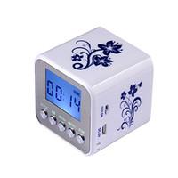 uhr radio mini usb großhandel-Marsnaska TT032 Mini tragbare digitale UKW-Radio tragbare Radios Unterstützung SD-Karte Lautsprecher USB MP3-Player mit Uhr