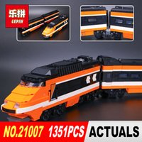 Wholesale printing kit - lepin 21007 1351Pcs Out of print, the sky train Model Building Kits Blocks Bricks Toys Compatible With 10233