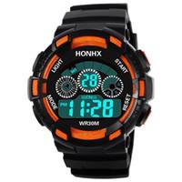 Honhx Mode Männer Led Wasserdicht Relogio Masculino Digitale Military Luxus Sport Datum Uhren Rubber Strap Erkek Kol Saati Digitale Uhren Uhren
