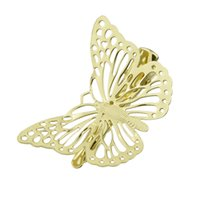 pince à cheveux papillon doré achat en gros de-1 pcs Bijoux De Cheveux De La Mode Or-Couleur Papillon Clip Épingles À Cheveux New Coming Hairwear Accessoires De Cheveux De Mariage pour Femmes