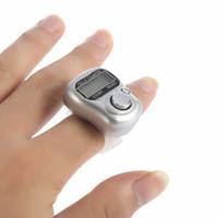 digital, mão, segurado, lcd, contador venda por atacado-Mini 1 pcs 5 display digital mão lcd tela eletrônica realizada tally contador anel de dedo handheld clicker medidor de contador de pessoas
