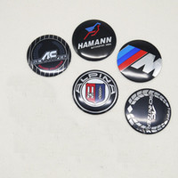 ingrosso bmw badge di ruota-56mm 4 pz / set Bmw M Power Sport Alpina Ac Schnitzer Logo originale Distintivo di marca Emblem Sticker Ruota Pneumatici Mozzo ruota Cap Center Cover